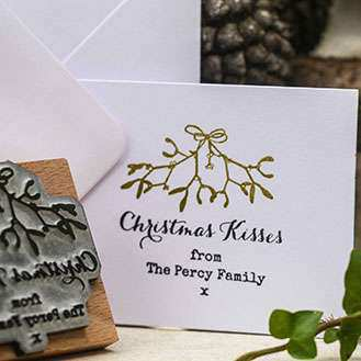 STAGS RUBBER STAMP CHRISTMAS CARDS GIFT WRAPPING