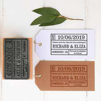 Save the Date Stamp - Ticket Stamp