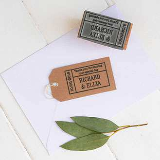 Ticket Favour Stamp Rubber Stamp