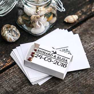 Nautical Custom Wedding Favour Stamps