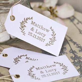Natural Custom Wedding Favour Stamps