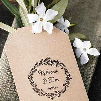 Willow Favour Rubber Stamp
