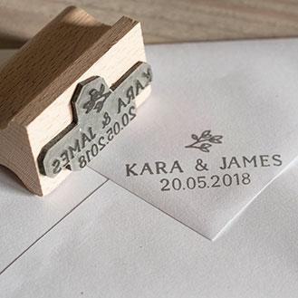 Flourish Custom Wedding Favour Stamps