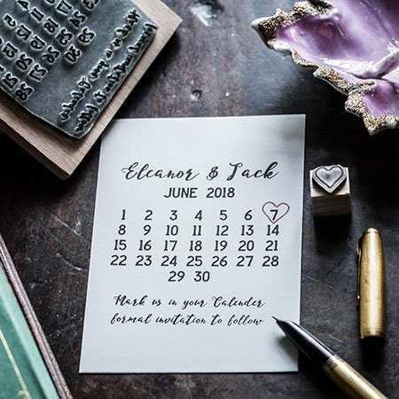 Calendar Marker Stamp