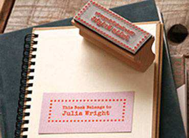 English Stamp This Book Stamp