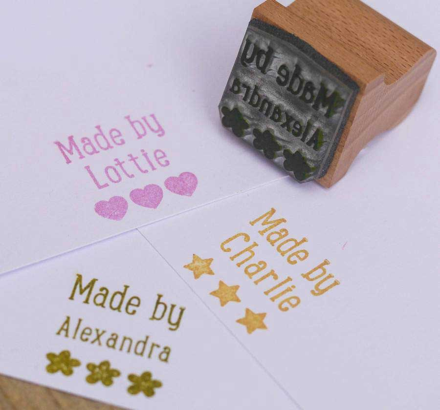 You can order this Made by Name Stamp