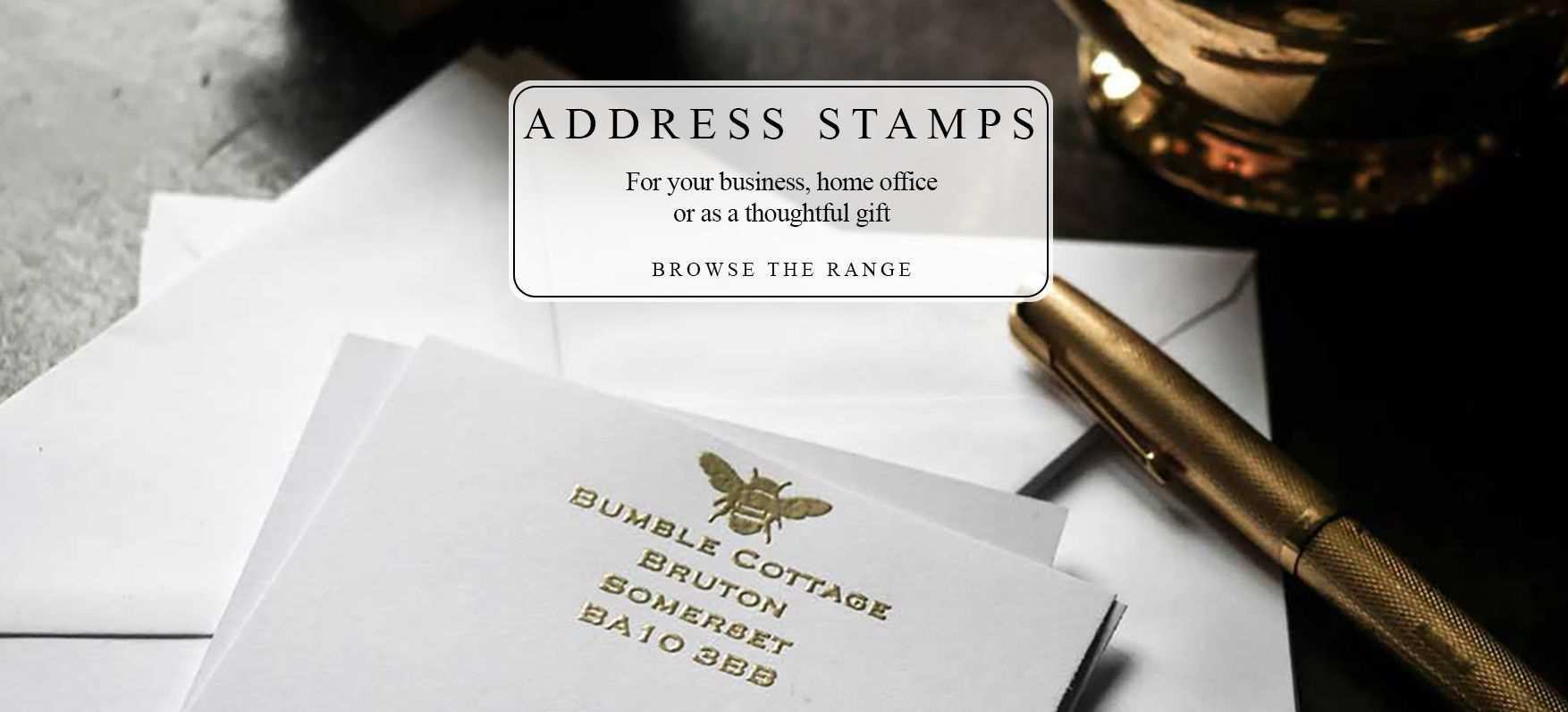 Address rubber stamp