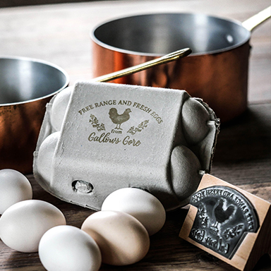 Personalised Egg Box Stamp
