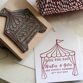 Save the Date Stamp - Tent Stamp