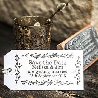 Save the Date Stamp - Garden Stamp