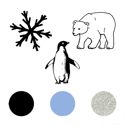 You can order this Polar Stamp Set
