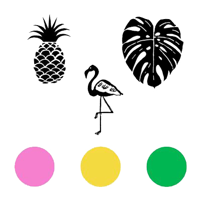 You can order this Tropical Stamp Set