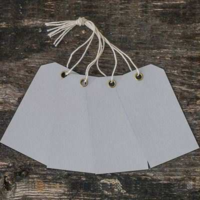 You can order this Eyelet Mini Tags Grey - pack of 25