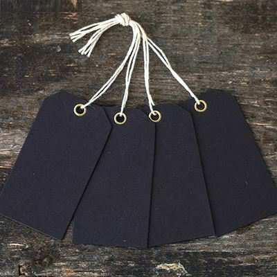 You can order this Eyelet Mini Tags Black - pack of 25