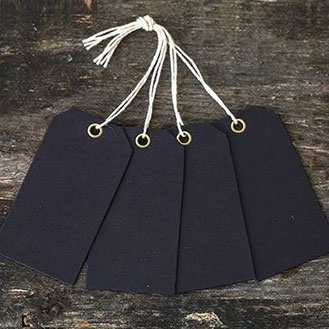 Order Eyelet Luggage Tags Black - pack of 25
