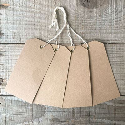 You can order this Eyelet Luggage Tags Kraft - pack of 25