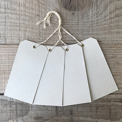 You can order this Eyelet Luggage Tags Grey - pack of 25