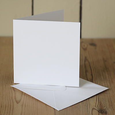 You can order this White 120mm Square Cards & Envelopes