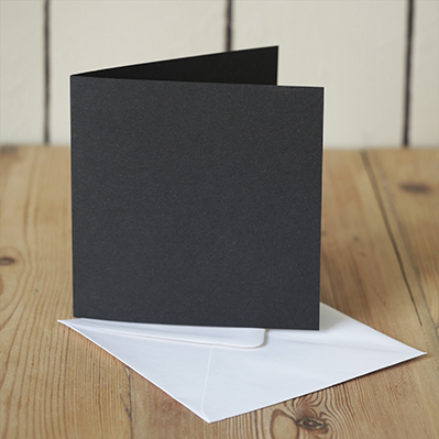 You can order this Black 120mm Square Cards & Envelopes