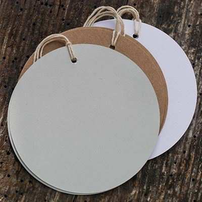 You can order this Round Tags White - pack of 10