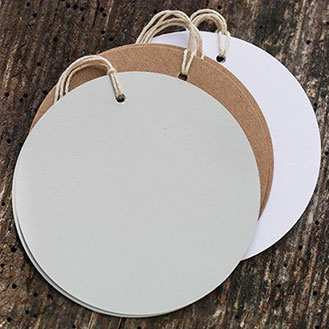 Order Round Tags Grey - pack of 10