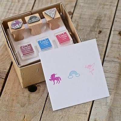 You can order this Unicorn Stamp Kit
