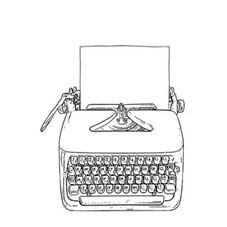 Typewriter Rubber Stamp