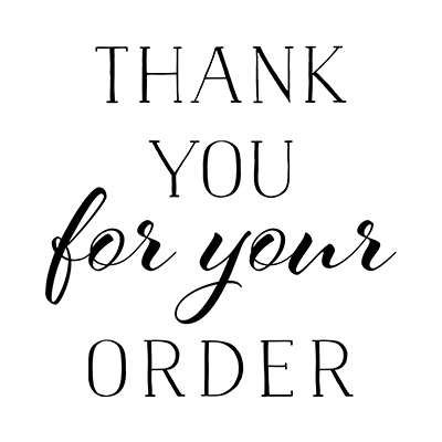 You can order this Order Thank You