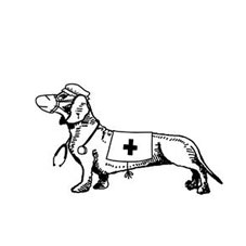Nurse Dachshund Personalised Stamp