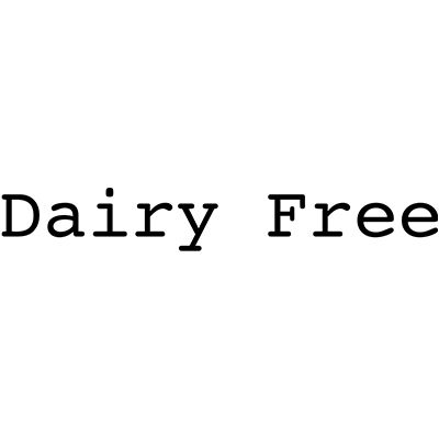 You can order this Dairy Free