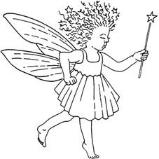 Star Fairy Rubber Stamp