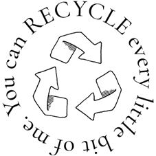 Recycle every bit of me Rubber Stamp
