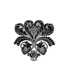 Damask Rubber Stamp