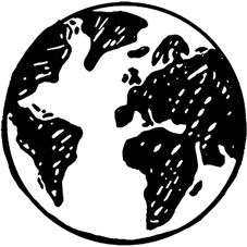 Earth Rubber Stamp