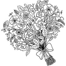 Full Bouquet Rubber Stamp