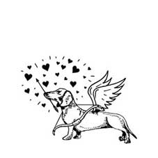 Cupid Colin Rubber Stamp
