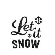Let it Snow Personalised Stamp