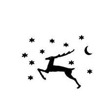 Star Deer Rubber Stamp