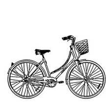 Bicycle Craft Stamp