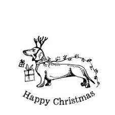 Order Happy Christmas Dachshund