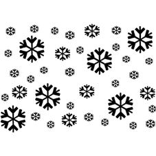 Scattered Snowflakes Personalised Stamp