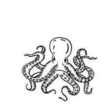Octopus 2 Rubber Stamp