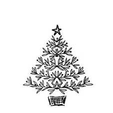 Festive Tree Rubber Stamp