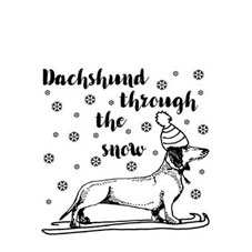 Dachshund Through the Snow Personalised Stamp