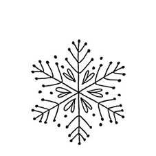 Folk Snowflake Craft Stamp