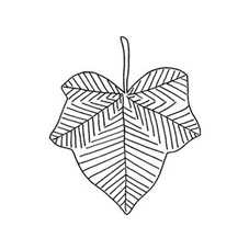 Ivy Leaf Rubber Stamp