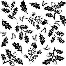 Woodland Medley Rubber Stamp