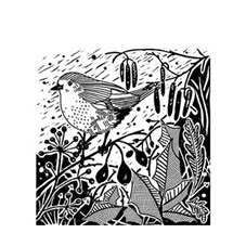 Woodland Robin Craft Stamp