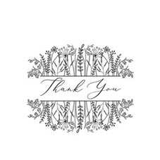Floral Thank You Personalised Stamp