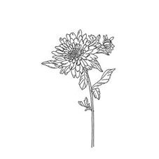 Dahlia Rubber Stamp